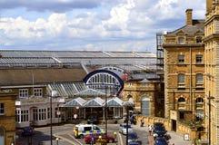 英国铁路火车站在约克 免版税图库摄影
