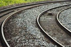 英国铁路/铁路-远射 免版税库存照片