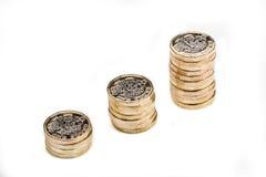 英国铸造一镑 免版税图库摄影
