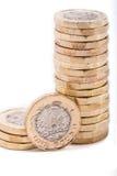 英国铸造一镑 库存照片