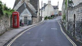英国镇的街道视图 免版税库存图片