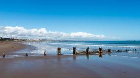 英国阿伯丁海滩 库存照片