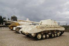 英国阿切尔在显示的反坦克装甲车 免版税库存照片