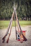 英国陆军的步枪 库存图片