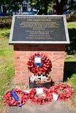 英国韩国退伍军人协会纪念品,在特伦特的伯顿 库存照片