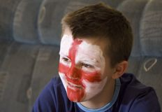 英国风扇小组年轻人 免版税库存图片