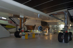 英国飞机公司起落架,协和飞机, G-AXDN 库存照片