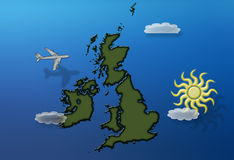 英国飞行在夏天 免版税库存图片