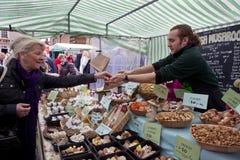 英国食物市场约克夏 库存照片