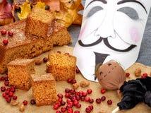 英国食物:Parkin珀金姜饼蛋糕 库存图片