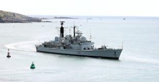 英国驱逐舰D96 HMS格洛斯特 免版税库存照片