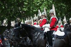 英国骑兵家庭 免版税库存图片