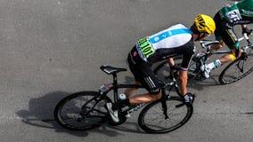 英国骑自行车者布雷得里・叱责 免版税库存照片