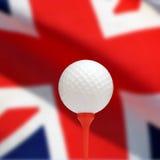 英国高尔夫球 免版税库存照片