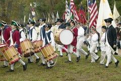 英国鼓笛和鼓行军 免版税库存照片