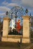 英国,伦敦,海德公园,门,女王伊丽莎白门 免版税图库摄影