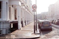 英国,伯明翰, 2016年12月07日:伦敦街道在切尔西邻里 图库摄影