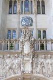 英国,米德塞科斯的最高法院市政厅大厦,伦敦,英国 免版税图库摄影