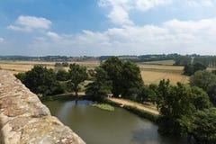 英国,英国,古老Bodiam城堡在苏克塞斯 库存照片