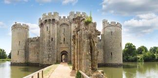 英国,英国,古老Bodiam城堡在苏克塞斯 免版税库存照片