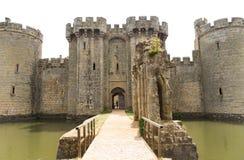 英国,英国,古老Bodiam城堡在苏克塞斯 免版税图库摄影