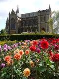 英国: Arundel大教堂和庭院 免版税库存照片