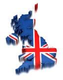 英国(包括的裁减路线) 库存照片
