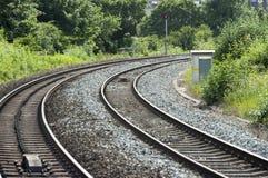 英国类型铁路/铁路轨道 免版税库存图片