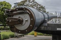 英国15海军炮 皇家博物馆战争 免版税库存照片