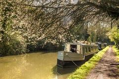英国-狭窄的小船的心脏 免版税库存照片