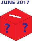 英国2017年竞选投票箱 免版税库存照片