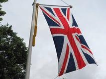 英国(英国)亦称英国国旗的旗子 免版税库存图片