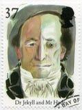 英国- 1997年:展示博士 Jekyll和先生 海德、系列故事和传奇 免版税库存照片