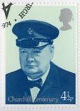 英国- 1974年:展示温斯顿Spencer丘吉尔1874-1965, Cinque口岸1942年,政客的监狱长阁下先生 库存图片