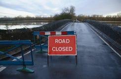 英国洪水 库存照片