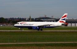 英国320条的空中航线 免版税库存照片