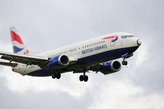 英国737条的空中航线 免版税库存照片