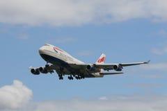 英国747条的空中航线 免版税库存图片