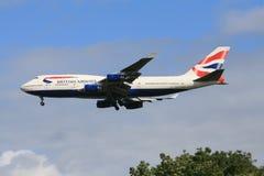 英国747条的空中航线 库存照片