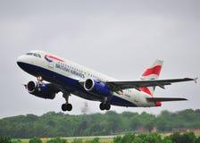英国a319空中巴士的空中航线 免版税库存照片