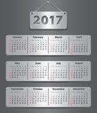 2017英国calendar_tablet 库存照片