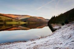 英国ladybower水库 图库摄影