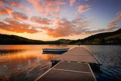 英国ladybower水库 免版税图库摄影