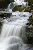 英国lumsdale谷瀑布 免版税库存图片