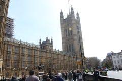英国parlament在伦敦 皇族释放例证