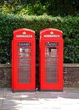 英国phonebooth 库存照片