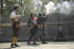 英国reenactor战士 免版税图库摄影