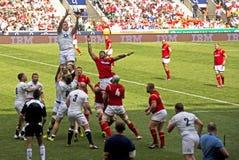 英国v威尔士在Twickenham的橄榄球联合 免版税库存照片