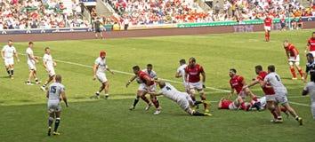 英国v威尔士在Twickenham的橄榄球联合 免版税图库摄影