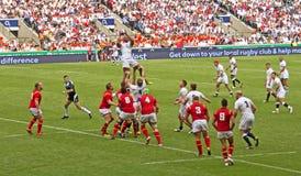 英国v威尔士在Twickenham的橄榄球联合 免版税库存图片